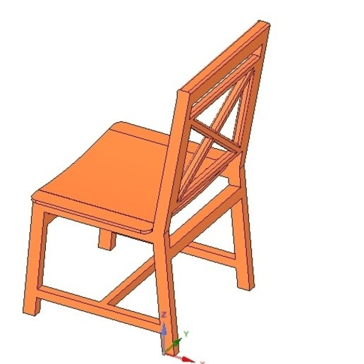 Download 3D printing models solid wood chair with 12 mm bent plywood seat, Dzusto