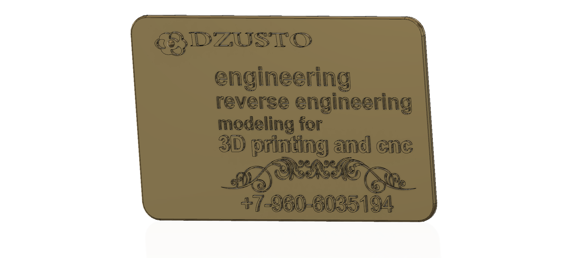 business card 01 v5-01.png Download free STL file Modeling product engineering reverse-engineering 3d print cnc • 3D printing design, Dzusto