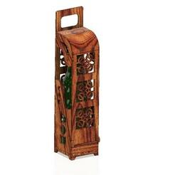 Bottle-holder-03 v17-00.jpg Download STL file Elegant wine box vertical Bottle d80x330 mm holder wbh-03 for 3D print model  • 3D printing design, Dzusto