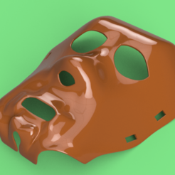 Download STL real halloween mask v01 magic ritual sport bdsm for 3d-print or cnc, Dzusto