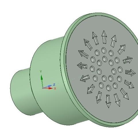 Descargar modelos 3D Ducha de suelo de inundación Kit de desagüe sifón 3d - Impresión, Dzusto