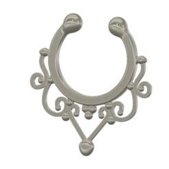 fem-jewel-32 v8-01.png Download STL file fake nose hook FAKE NIPPLE PIERCING Female male Non-Piercing Body Jewellery Bondage Weight femJ-32 3d print cnc • 3D printer object, Dzusto