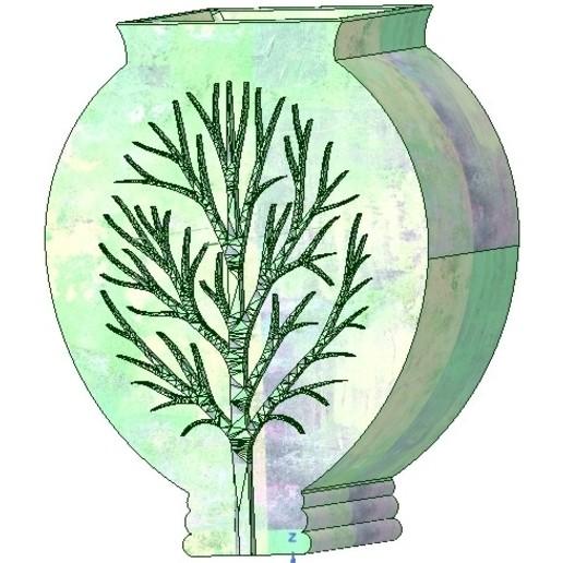 Download STL vase cup vessel v05 for 3d-print or cnc, Dzusto