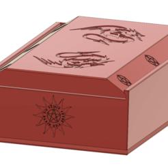tarot-table-deck-box-03 v12-00.png Télécharger fichier STL TAROT DECK BOX Bijoux cadeaux Cartes de divination de sorcières Boîte à impression 3D • Modèle imprimable en 3D, Dzusto