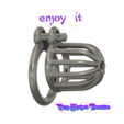 Download 3D model Male Chastity Device Cock Cage Penis Ring  Virginity Lock Chastity Belt Adult Game Sex Toy locker v49-v02 3d print and cnc, Dzusto