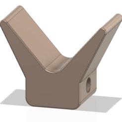 Télécharger plan imprimante 3D Arrêt d'étrave du yacht remorque de bateau à roulettes 2 pouces pour l'impression 3d cnc, Dzusto