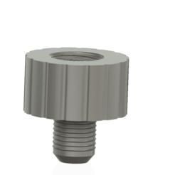 Descargar archivos 3D Adaptador con rosca de tubo DIN 1/2 a una manguera de 16 mm 3d print cnc, Dzusto