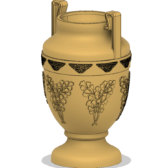 Download STL file amphora greek cup vessel vase v51 for 3d print and cnc, Dzusto