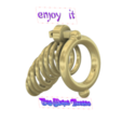 Download 3D printing files Male Chastity Device Cock Cage Penis Ring  Virginity Lock Chastity Belt Adult Game Sex Toy locker v53A folding ring 3d print and cnc, Dzusto
