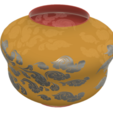 "pot-vase-1001 v2-03.png Download STL file vase cup pot jug vessel ""spring chinese clouds"" v1001 for 3d-print or cnc • 3D printable model, Dzusto"