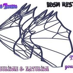 bra-04 v4-001-vv.jpg Download STL file Women Female BRA Tongue Breast Boobs Bondage Chastity Device Restraints tits boobs version fb-04 3d print cnc • 3D printing object, Dzusto