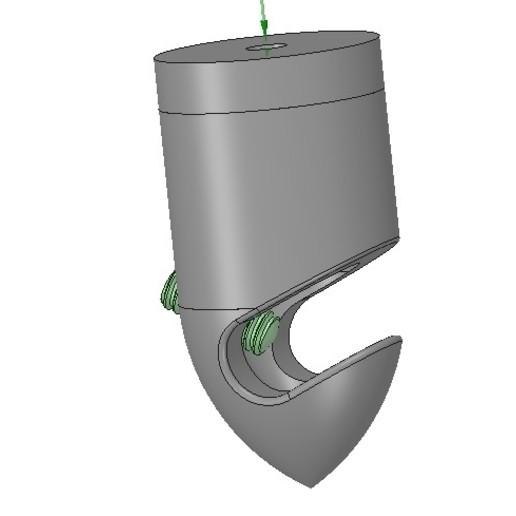 Télécharger fichier 3D Pince décorative pour câblage externe et interne 3dprint, Dzusto