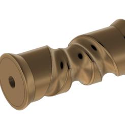 Télécharger objet 3D Rouleau de quille de quille de bateau auto-centrant de 8 pouces pour l'impression 3d et cnc, Dzusto