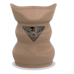 Download 3D printing files style vase cup vessel v302 for 3d-print or cnc, Dzusto