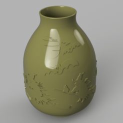 Download STL vase real witch circle  pot for magic ritual for 3d-print or cnc, Dzusto