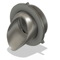 Descargar modelos 3D para imprimir Boquilla de descarga de agua de lluvia en el parapeto vs01 d100 3d-print o cnc, Dzusto