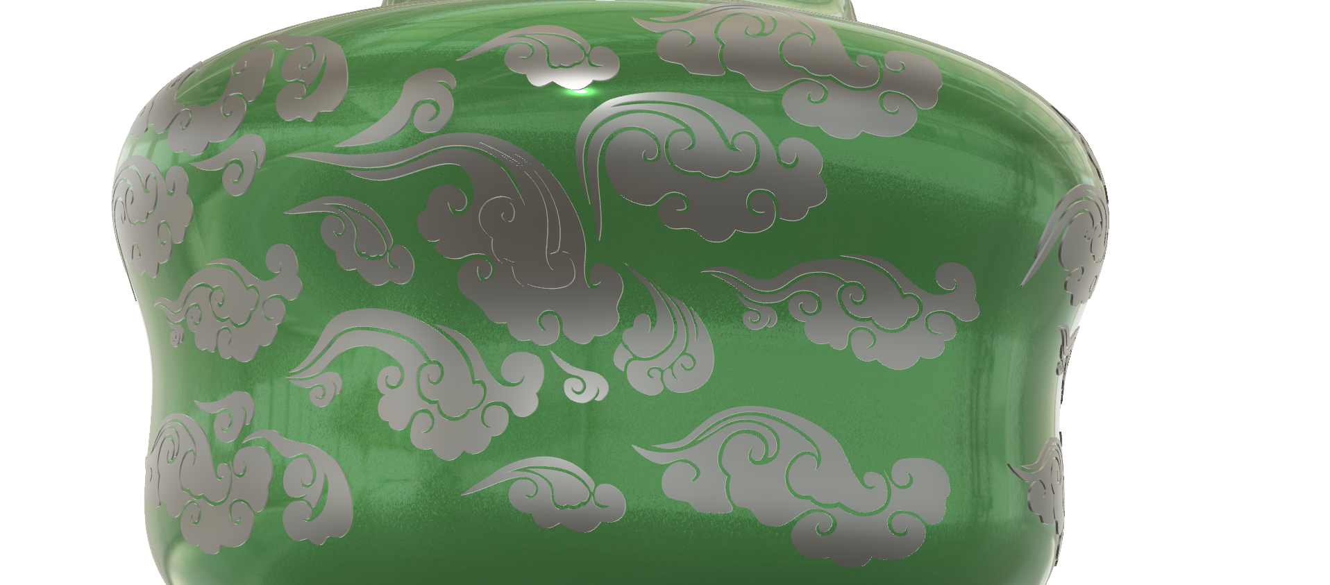 "pot-vase-1001 v2-06.png Download STL file vase cup pot jug vessel ""spring chinese clouds"" v1001 for 3d-print or cnc • 3D printable model, Dzusto"