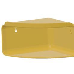 Download 3D printer designs Bathroom Accessories Corner Shelf Shampoo Holder Kitchen Storage Rack Shower Corner Shelves Wall Organizer CSWO-02, Dzusto