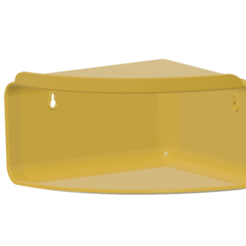 Corner Shelves Wall Organizer-02 v6-03.png Download STL file Bathroom Accessories Corner Shelf Shampoo Holder Kitchen Storage Rack Shower Corner Shelves Wall Organizer CSWO-02 • 3D printing design, Dzusto