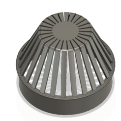rainwater_outlet_grill_70x55_ver01 v5-02.png Download OBJ file Rainwater Outlet Grill 70mm for protection trap 3d-print • 3D printable model, Dzusto