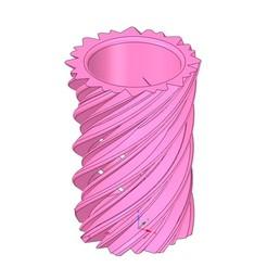 Download 3D printer model vase v42 for 3d-print or cnc, Dzusto