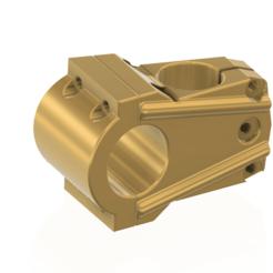 Handlebars-mount-02 v1-01.png Download STL file bicycle motorcycles Bicycle Stem Handlebar mount 3d-print cnc • 3D printable design, Dzusto