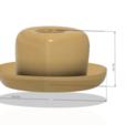 Télécharger modèle 3D chapeau pour 3d-print et cnc, Dzusto