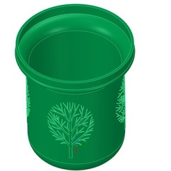 Download 3D printer designs nature style vase cup vessel v52v2 for 3d-print or cnc, Dzusto