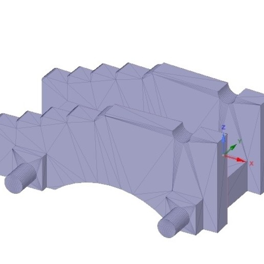 model of an old naval gun for 3D print and cnc