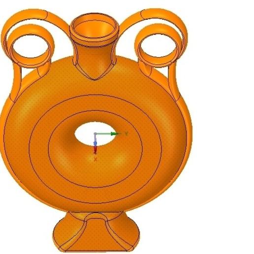 Télécharger modèle 3D vase vase amphore vase v03 à coupe grecque pour l'impression 3d et cnc, Dzusto