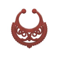 fem-jewel-26 v9-00.png Download STL file fake nose hook FAKE NIPPLE PIERCING Female male Non-Piercing Body Jewellery Bondage Weight femJ-26 3d print cnc • Object to 3D print, Dzusto