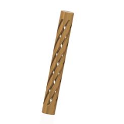 Imprimir en 3D balaustre a medida escalera de pilar con mango techno v023 3d-print cnc, Dzusto