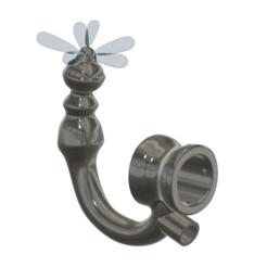 "Download 3D printer model anal hook ""soul enema shower "" female male anal hook plug Anus clamp Expander v18 3d print cnc, Dzusto"