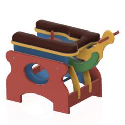 Download 3D printing models Love Sex Chair Sliding Rocker Monkey Chair Sex Machine v02 for 3d print or cnc, Dzusto
