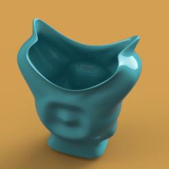 Download 3D printing models King coat vase cup vessel holder v307 for 3d-print or cnc, Dzusto