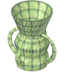 Télécharger fichier STL vase vase vase vase v43 pour l'impression 3d-impression ou cnc, Dzusto