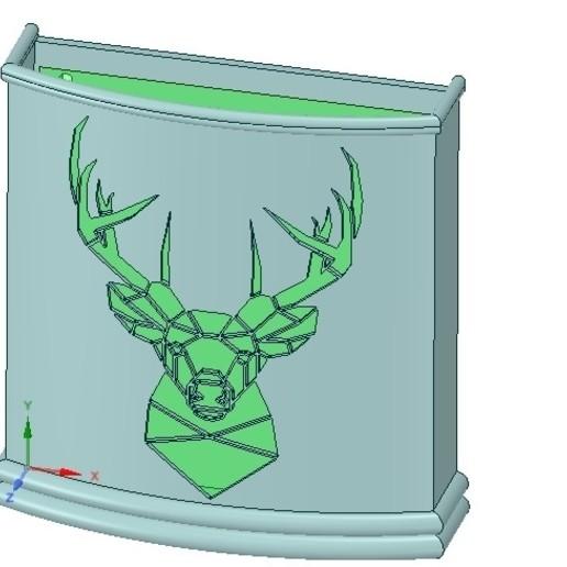 Télécharger plan imprimante 3D Support mural pour parapluie Porte-parapluie pour impression 3D réelle et cnc, Dzusto