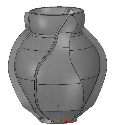 Vase05-03.jpg Download OBJ file vase cup vessel v05 for 3d-print or cnc • 3D printable template, Dzusto