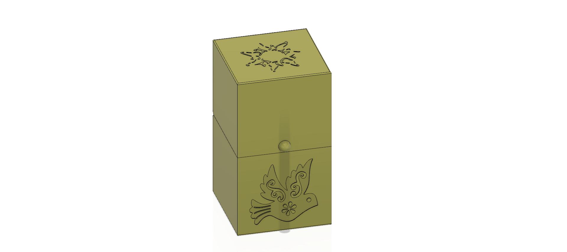 cube-02-a1 v1-1.png Descargar archivo OBJ Caja de regalo Caja secreta pequeña caja secreta Modelo de impresión en 3D • Modelo para imprimir en 3D, Dzusto
