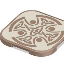tray_pot_v16 v4-01.png Télécharger fichier STL plateau pour support de table à découper avec motif celtique v16 3d-print et cnc • Design imprimable en 3D, Dzusto