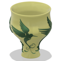 Download 3D print files style vase cup vessel glass-birds for 3d-print or cnc, Dzusto