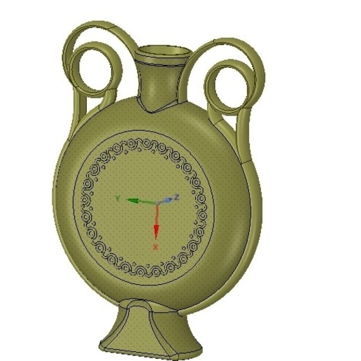 Download STL files amphora greek cup vessel vase v04 for 3d print and cnc, Dzusto