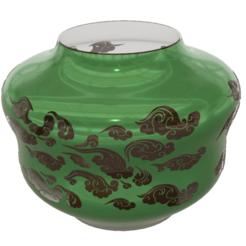 """pot-vase-1001 v2-00.png Download STL file vase cup pot jug vessel """"spring chinese clouds"""" v1001 for 3d-print or cnc • 3D printable model, Dzusto"""