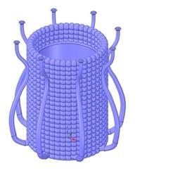 Descargar archivos 3D jarrón taza recipiente octopus omni03v3 para 3d-print o cnc, Dzusto