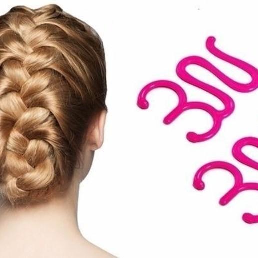fem-braid hair 05.jpg Download STL file Multi Style Braiding Tool hair styling roller braid accessories for girl woman headdress weaving fbh-05 3d print cnc • Object to 3D print, Dzusto