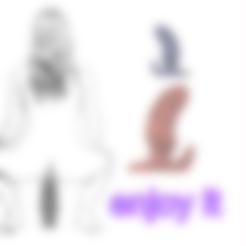 Descargar modelos 3D para imprimir mujer hombre chica anal vaginal doble tapón para usar el extensor de glúteos masajeador de próstata culo avp-317 3d print flex o silicona, Dzusto