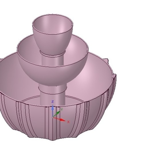 Download 3D printing templates 3 tier Flower pot Vase container tower decor 3D print and cnc, Dzusto