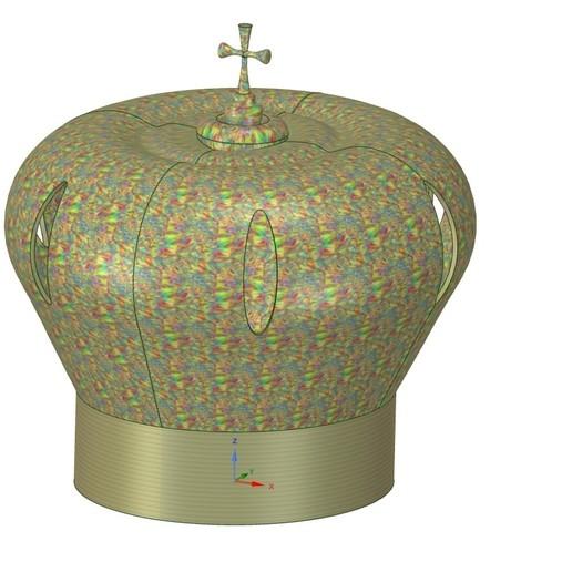 Télécharger modèle 3D couronne féodale de seigneur d'imprimante 3d pour l'impression 3d-print et cnc, Dzusto