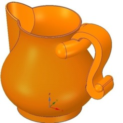 Download 3D model cup jug vessel vpot17 for 3d-print or cnc, Dzusto