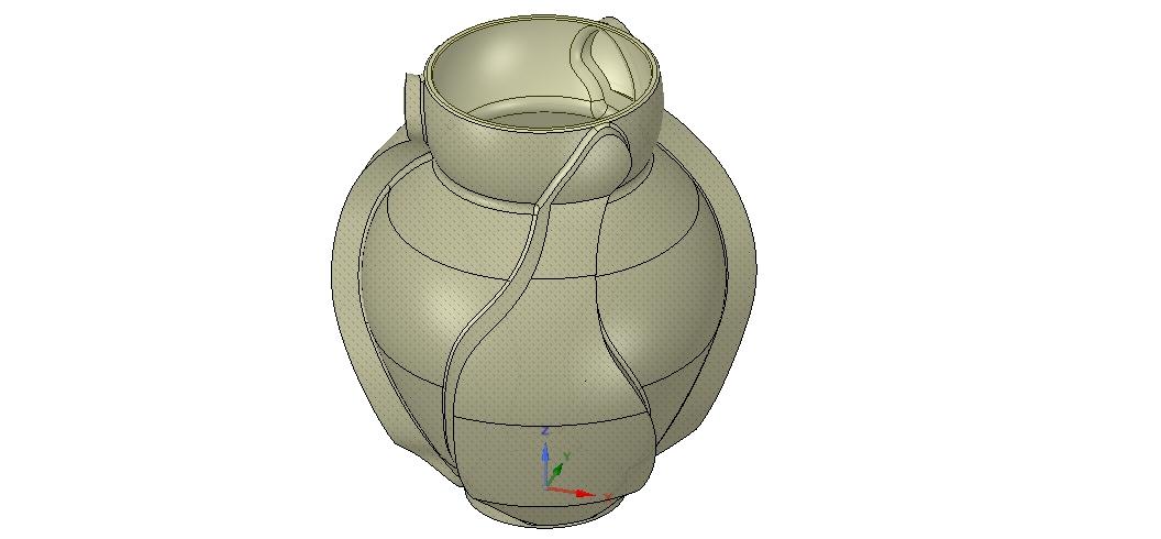 Vase05-00.jpg Download OBJ file vase cup vessel v05 for 3d-print or cnc • 3D printable template, Dzusto